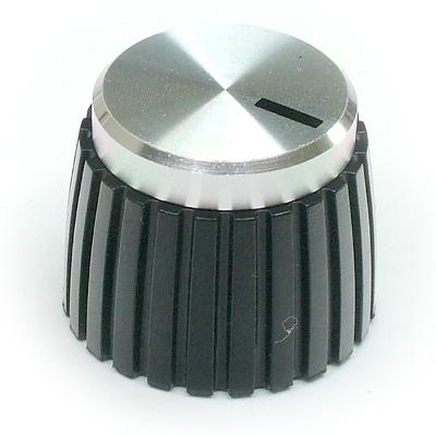 Knob Silver/Black British Amp Style type 3401