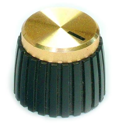 Knob Gold/Black British Amp Style type 3402