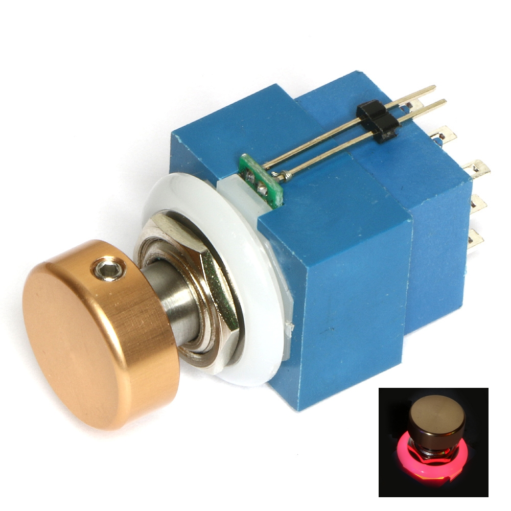 3pdt Illuminated P B Switch Push Button Switches Parts Guitar Spst Off On