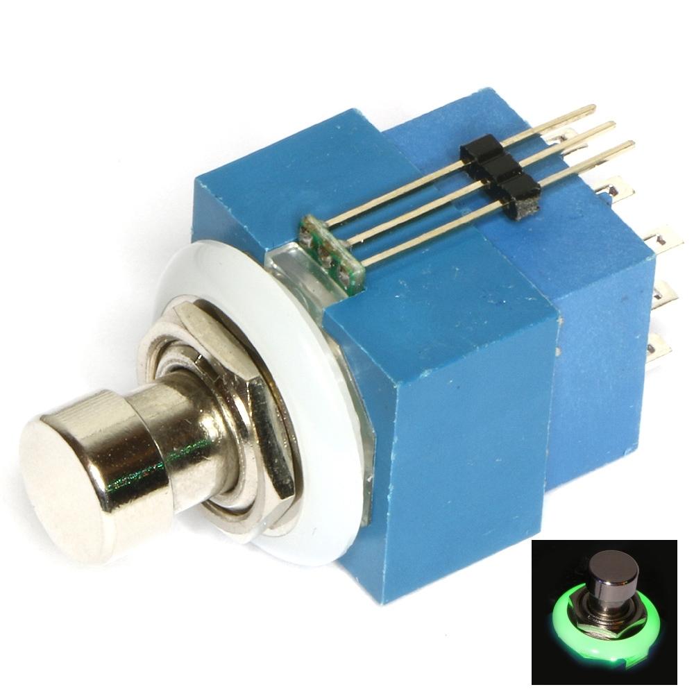 3PDT 2 Colour Illuminated P/B switch