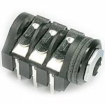 Stereo 1/4in PCB Skt