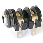 Mono 1/4 inch Jack Chrome Nut